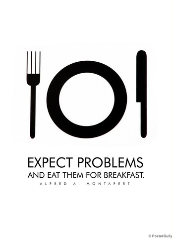 PosterGully Specials, Eat Problems For Breakfast, - PosterGully