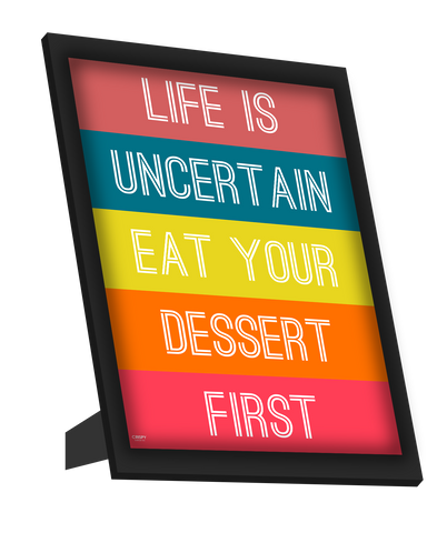 Framed Art, Eat Your Dessert Framed Art, - PosterGully