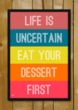 Glass Framed Posters, Eat Your Dessert Glass Framed Poster, - PosterGully - 1