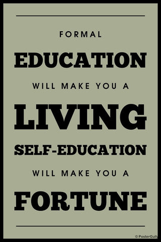 Wall Art, Education Quote | Fortune, - PosterGully