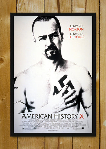 Glass Framed Posters, Edward Norton in American History X Glass Framed Poster, - PosterGully - 1