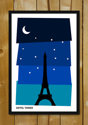 Glass Framed Posters, Eiffel Tower Paris Glass Framed Poster, - PosterGully - 1