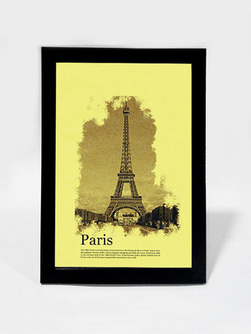 Framed Art, Eiffel Tower Paris Vintage Postcard | Framed Art, - PosterGully