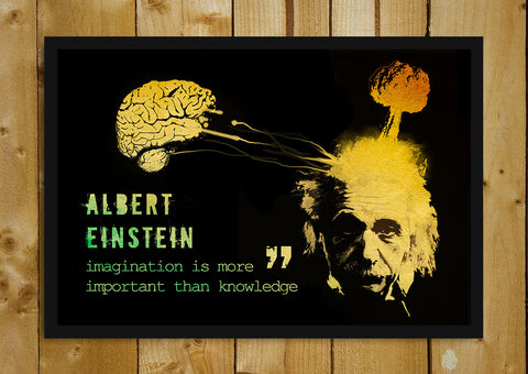 Glass Framed Posters, Einstein Imagination is more important Glass Framed Poster, - PosterGully - 1