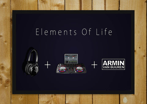 Glass Framed Posters, Elements Of Life Armin van Buuren Glass Framed Poster, - PosterGully - 1