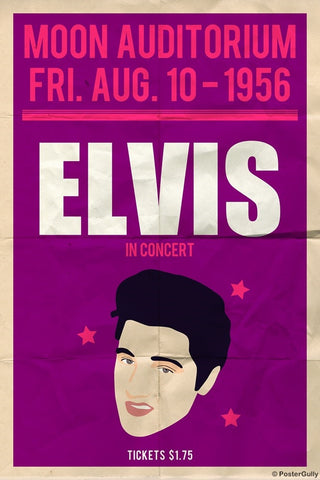 Wall Art, Elvis Presley | Moon Concert, - PosterGully
