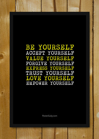 Glass Framed Posters, Empower Yourself Glass Framed Poster, - PosterGully - 1