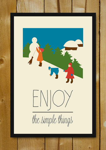 Glass Framed Posters, Enjoy The Simple Things Glass Framed Poster, - PosterGully - 1