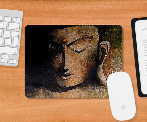 Mousepads, Enlightened Buddha Mousepad | Artist: Sunanda Puneet, - PosterGully