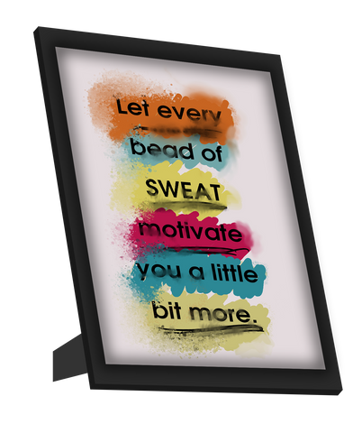Framed Art, Every Sweat | Gym Workout Framed Art, - PosterGully
