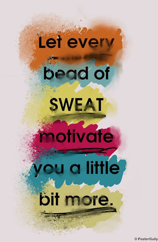 Wall Art, Every Sweat | Gym Workout, - PosterGully