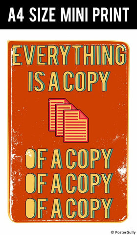 Mini Prints, Everything Is A Copy Fight Club | Mini Print, - PosterGully