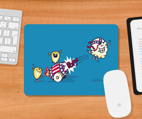 Mousepads, Evil Cornival Blue Mousepad | By Captain Kyso, - PosterGully