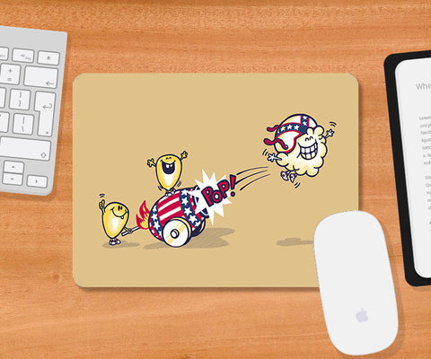 Mousepads, Evil Cornival Light Brown Mousepad | By Captain Kyso, - PosterGully