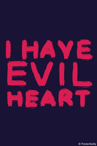 Wall Art, Evil Heart, - PosterGully