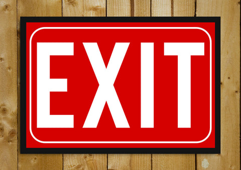 Glass Framed Posters, Exit Sign Glass Framed Poster, - PosterGully - 1