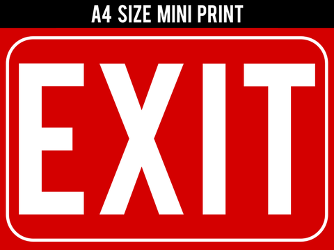 Mini Prints, Exit Sign | Mini Print, - PosterGully