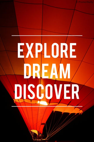 Wall Art, Explore Dream Discover Motivational, - PosterGully