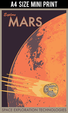 Mini Prints, Explore Mars | Mini Print, - PosterGully