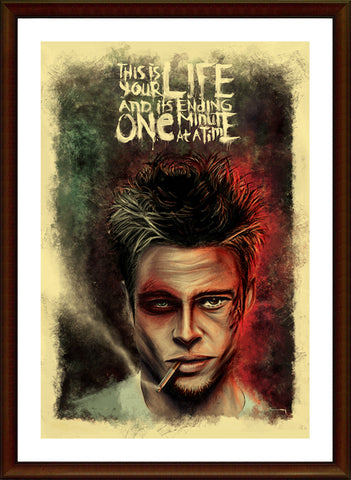 PosterGully Specials, Fight Club | Brad Pitt Artwork,   PosterGully