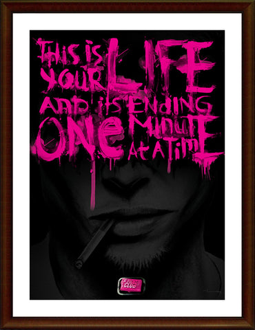 Wall Art, Fight Club | Black & Purple Artwork, - PosterGully