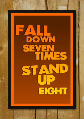 Glass Framed Posters, Fall Seven TImes Glass Framed Poster, - PosterGully - 1