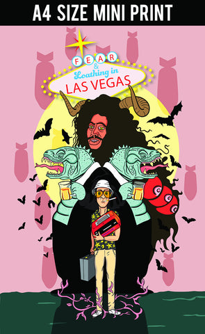 Mini Prints, Fear & Loathing In Vegas Caricature | Mini Print, - PosterGully