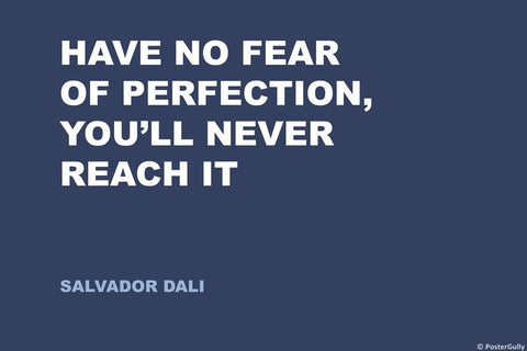 Wall Art, Fear | Salvador Dali | Creativity Quote, - PosterGully