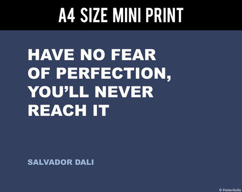 Mini Prints, Fear | Salvador Dali | Creativity Quote | Mini Print, - PosterGully
