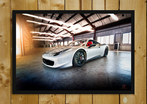 Glass Framed Posters, Ferrari 458 Glass Framed Poster, - PosterGully - 1