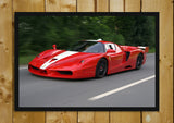 Glass Framed Posters, Ferrari FXX Glass Framed Poster, - PosterGully - 1