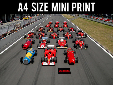 Mini Prints, Ferrari Lineup | Formula One | Mini Print, - PosterGully