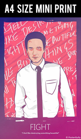 Mini Prints, Fight Club | Destroy Something | Mini Print, - PosterGully