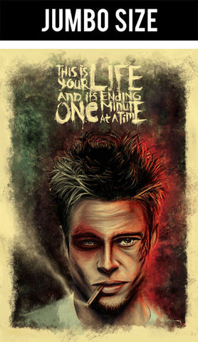 Jumbo Poster, Fight Club | Brad Pitt Artwork | Jumbo Poster, - PosterGully