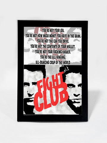 Framed Art, Fight Club Job Quote | Framed Art, - PosterGully