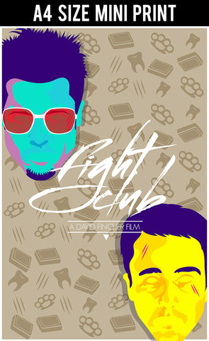 Mini Prints, Fight Club | RJArtworks Part 1 | Mini Print, - PosterGully