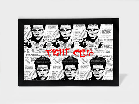 Framed Art, Fight Club Tyler | Framed Art, - PosterGully