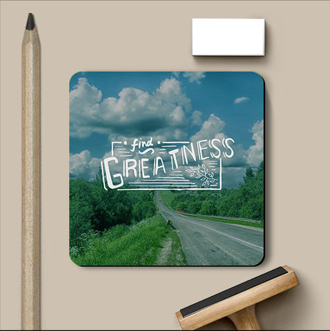 PosterGully Coasters, Find Greatness Coaster, - PosterGully