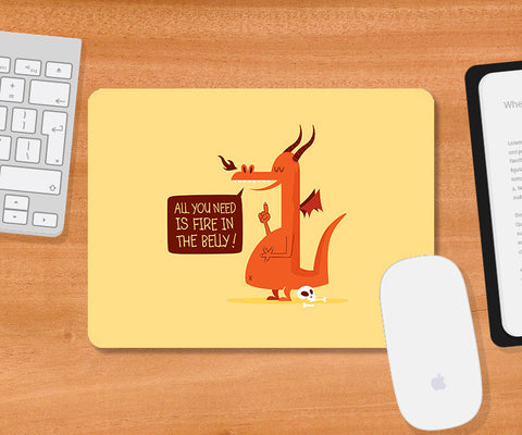 Mousepads, Fire In The Belly Mousepad | By Captain Kyso, - PosterGully