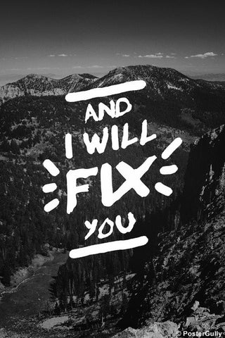 Wall Art, Fix You Type | Coldplay, - PosterGully