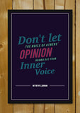 Glass Framed Posters, Follow Inner Voice Steve Jobs Motivational Glass Framed Poster, - PosterGully - 1