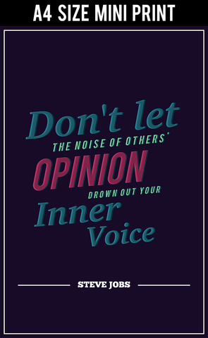 Mini Prints, Follow Inner Voice Steve Jobs Motivational | Mini Print, - PosterGully