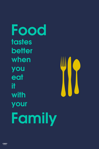 Wall Art, Food With Your Family, - PosterGully
