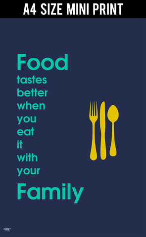 Mini Prints, Food With Your Family | Mini Print, - PosterGully