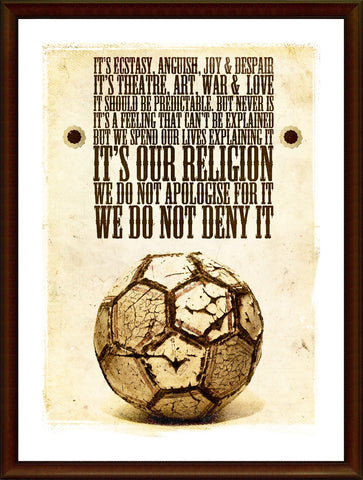 Wall Art, Football Is Religion, - PosterGully