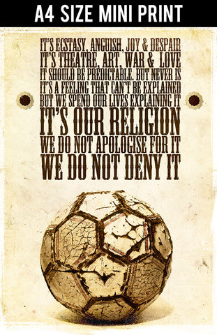 Mini Prints, Football Is Religion | Mini Print, - PosterGully