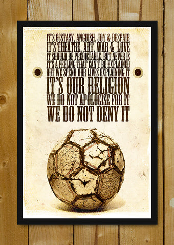 Glass Framed Posters, Football Is Religion Glass Framed Poster, - PosterGully - 1