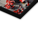 Glass Framed Posters, Formula One Ferrari Pitstop Glass Framed Poster, - PosterGully - 2