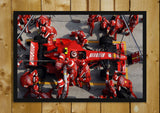 Glass Framed Posters, Formula One Ferrari Pitstop Glass Framed Poster, - PosterGully - 1