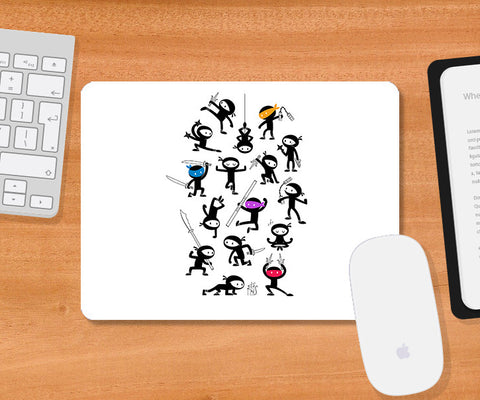 Mousepads, Four Special Ninjas Mousepad | By Captain Kyso, - PosterGully